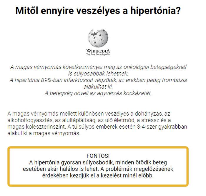 tartós hipertóniával magas vérnyomás kezelés tabletta nélkül