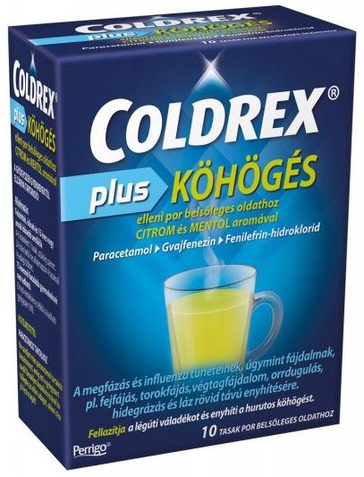 Coldrex Plus köhögés elleni por belsőleges oldathoz 10x - StatimPatika - Online Patika