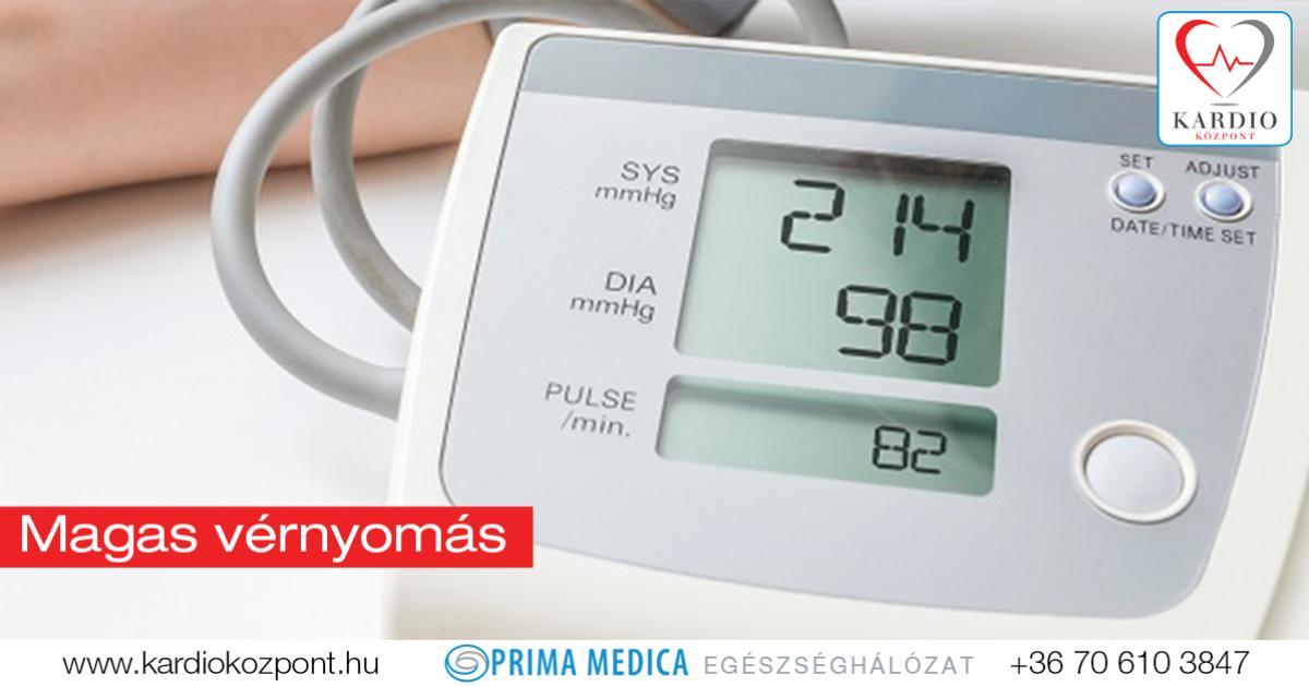 magas vérnyomás fekvőbeteg-kezelése