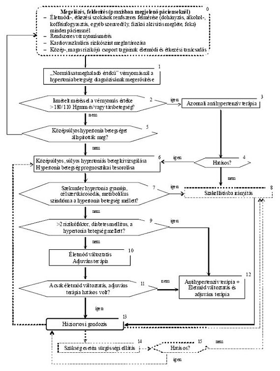 hipertónia algoritmusok