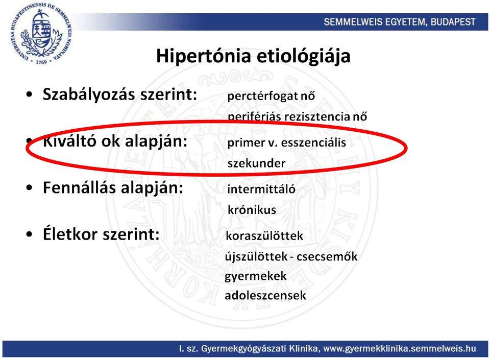 Hipertónia Részleg