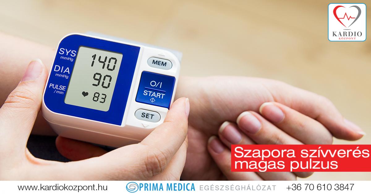 magas vérnyomás esetén a pulzus kezelése)