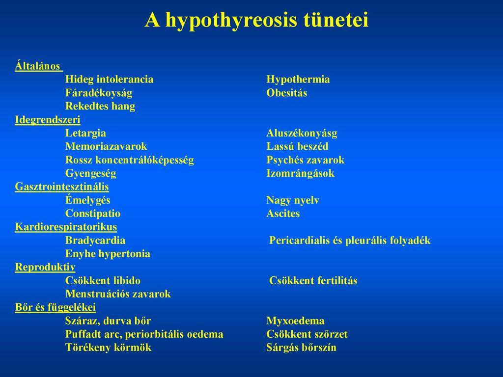 hypertonia kezelése hypothyreosisban)
