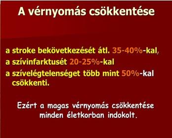 hatása a magas vérnyomás ereire)
