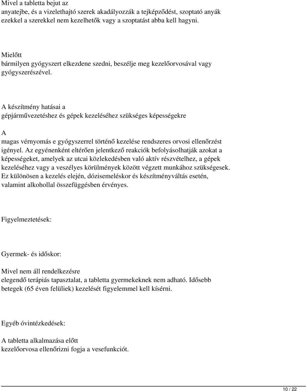 hipertónia gyermekeknél klinikai irányelvek